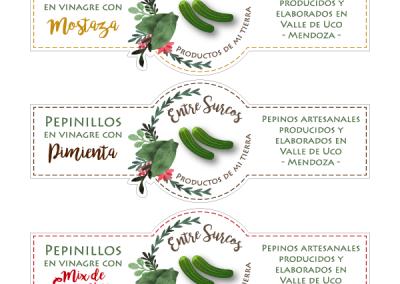 Diseño de etiquetas Entre Surcos